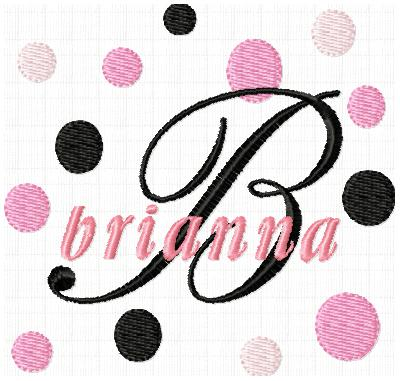 Fancy Fonts & Dots - Pink