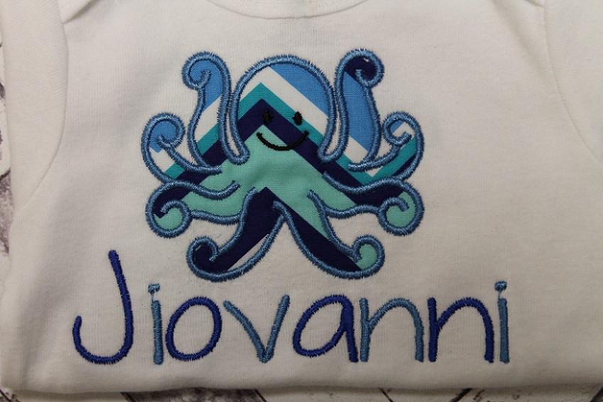 Boy Octopus Onesie