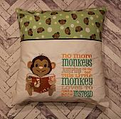 Little Monkey Reading Pocket Pillow